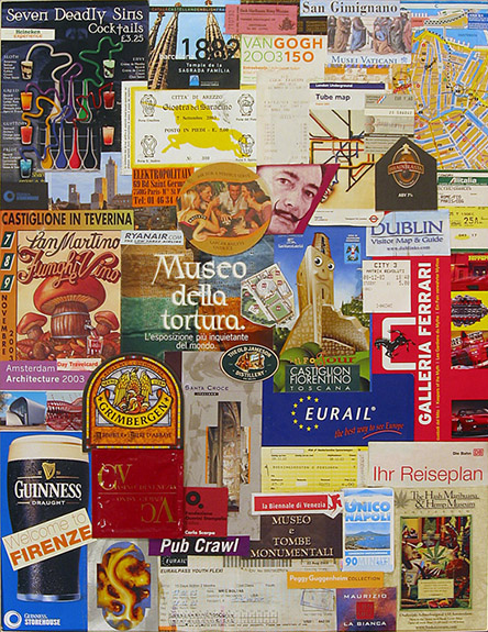 "©2010 the Charles Gallery - Collage - ""European Collage"""